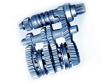 Bagian dan roda gigi distribusi  pada ruang distribusi