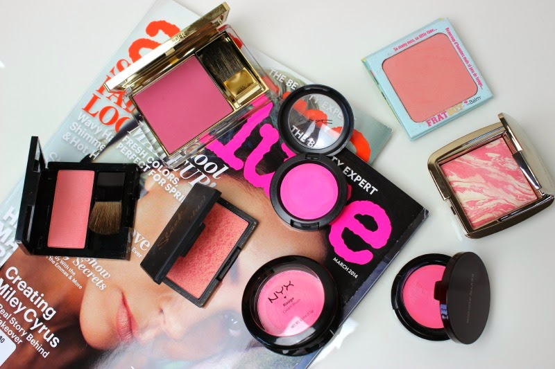 A post all about my addiction to pink blushes, including high-street and high-end!