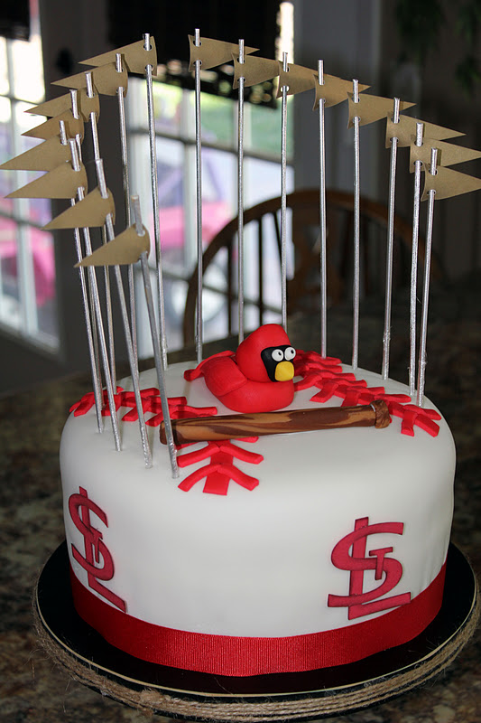 Craes Creations St Louis Cardinals Cake
