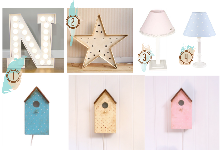 lamparas para dormitorios de bebes