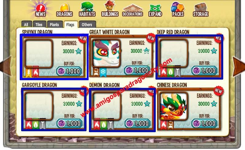Dragon Esfinge-Dragon Rojo Profundo-Dragon Gargola-Dragon Demonio