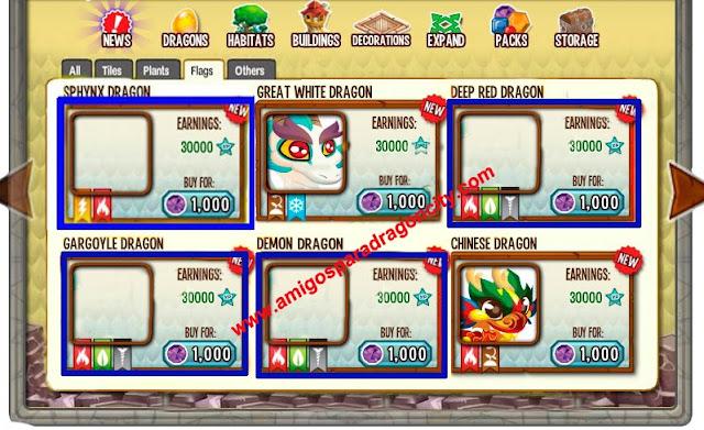 imagenes de nuevos dragones de dragon city