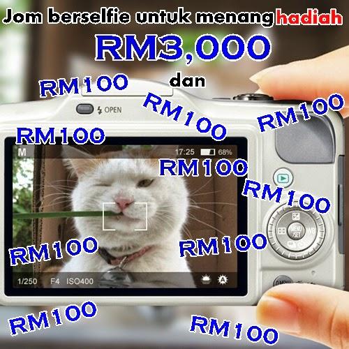 Jom berselfie untuk menang hadiah RM3,000!