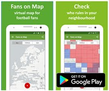 Sports App of the Week - Football Fans on Map