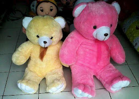 BEAR JUMBO PINK DAN BEAR BIG CREAM