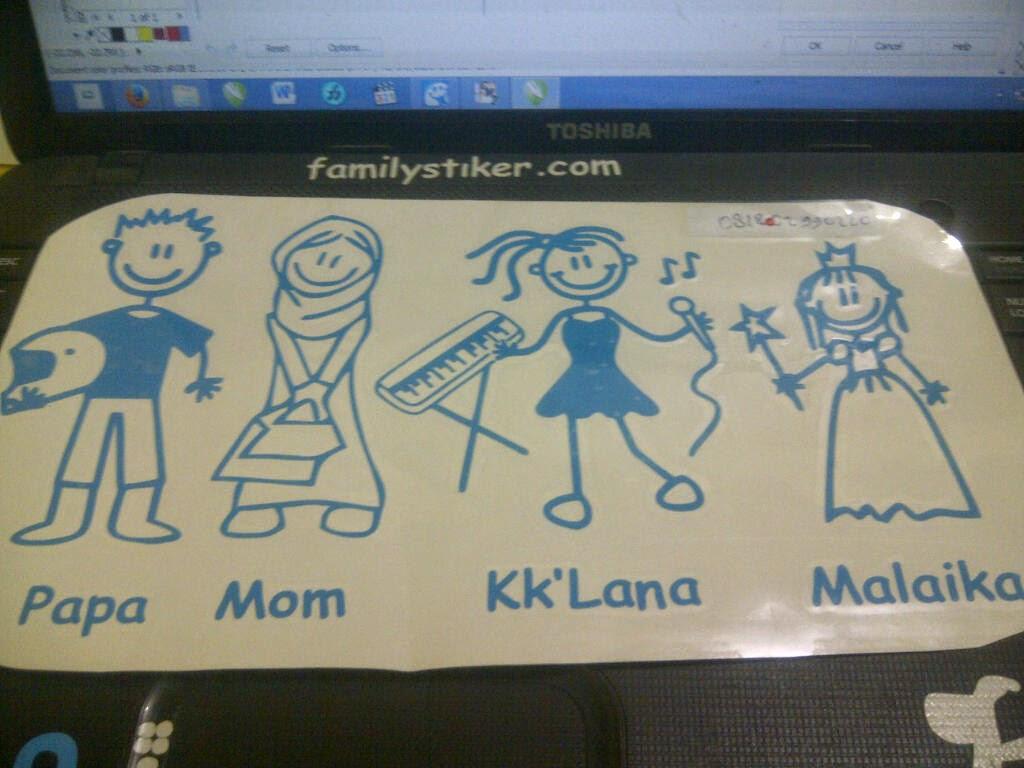 Stiker Family Sticker Happy Karakter Keluarga Medan Aceh Riau Duri Batam Tuban Solo Serang Banten Jakarta