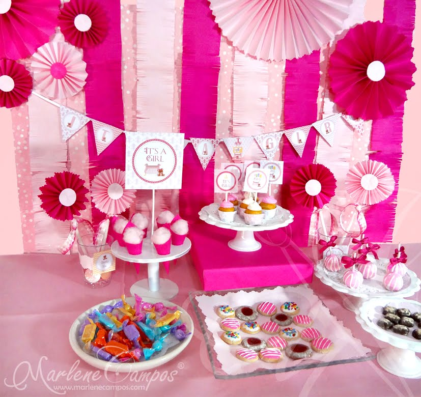 Baby Shower Girl Fancy Room