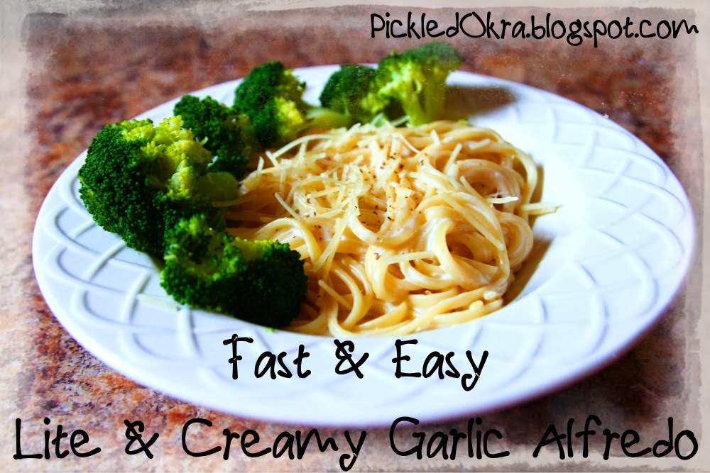 http://pickledokra.blogspot.com/2014/02/fast-easy-lite-creamy-garlic-alfredo.html