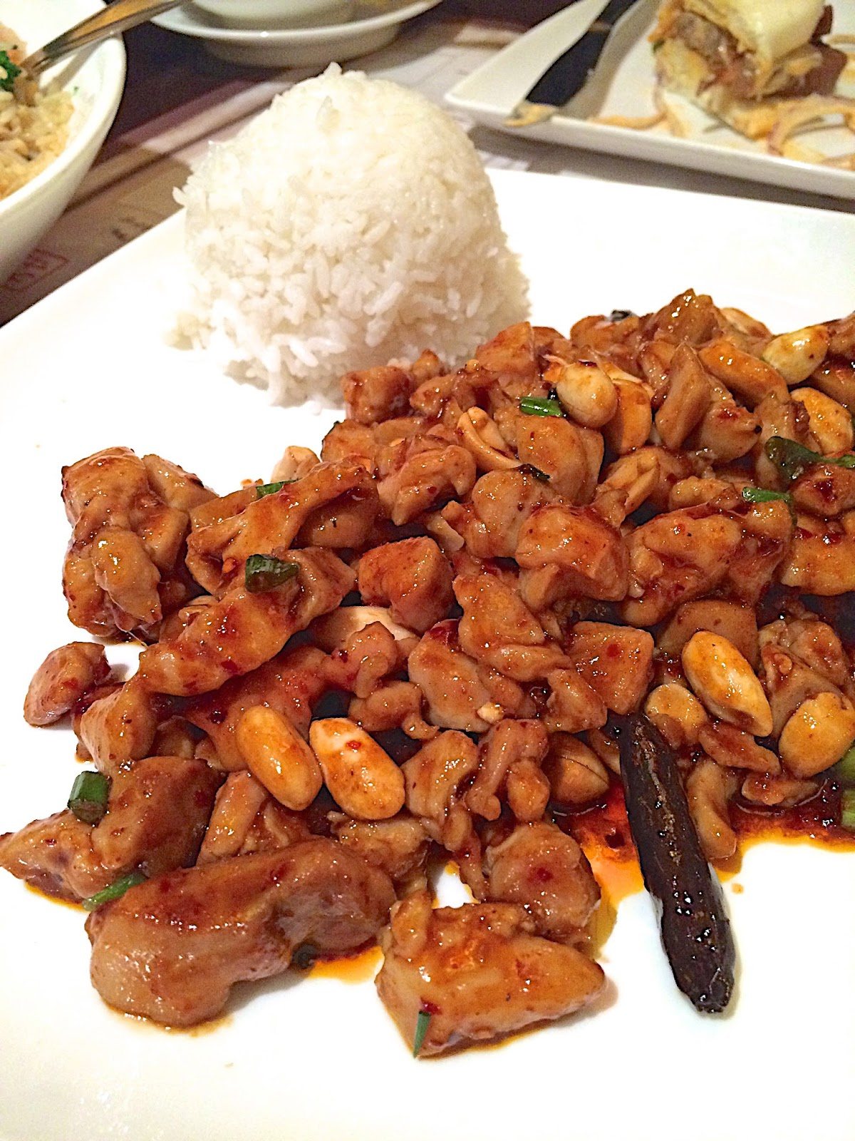 Kung Pao Chicken - Nine Dragons Restaurant - Epcot {Disney World}