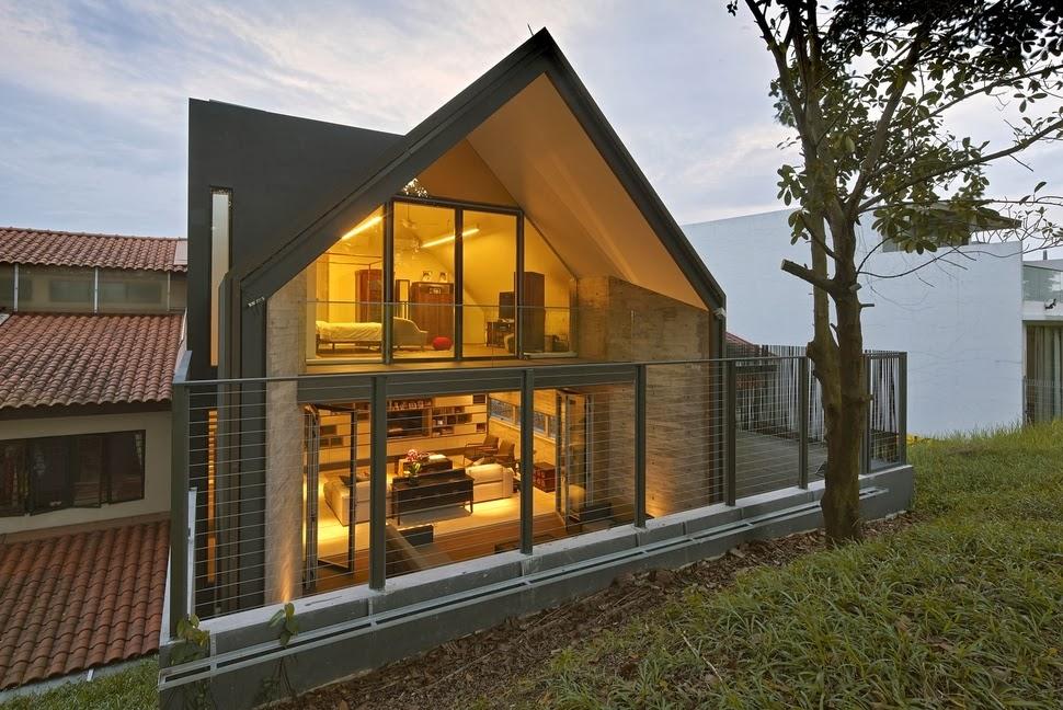 Desain Rumah Kecil Minimalis Bertingkat
