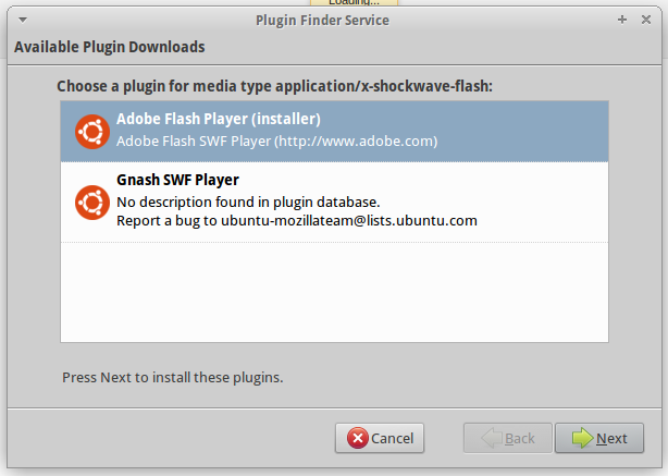 How to install flash player on xubuntu 1204 ubuntu tutorial when done check if adobe flash player is installed by typing aboutplugins on firefox address bar ccuart Image collections