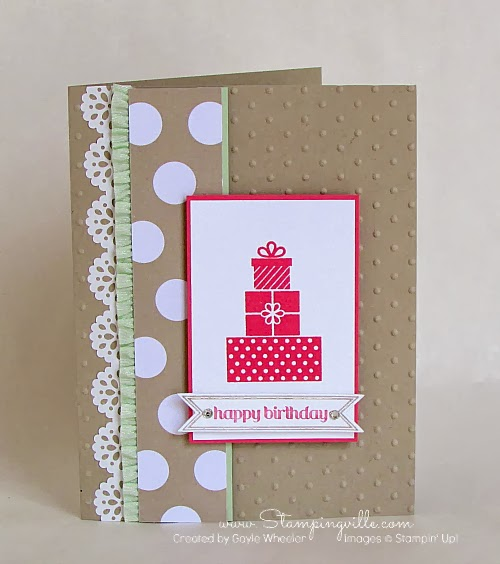 Stampin' Up! Wishing You Stamp Set Birthday Card
