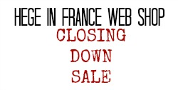 Hege in France web shop closing