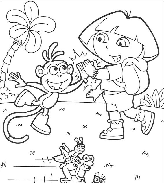 Coloriages a imprimer imprimer coloriage dora l 39 exploratrice - Dora coloriage ...