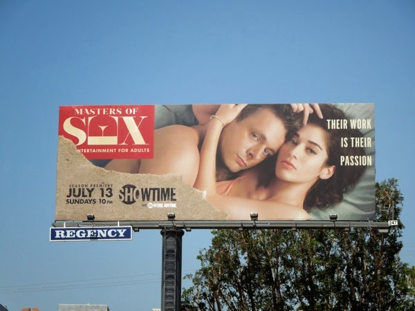 Masters of Sex season 2 billboard
