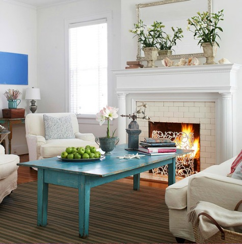 Coastal living room color ideas from better homes and for Better living designs