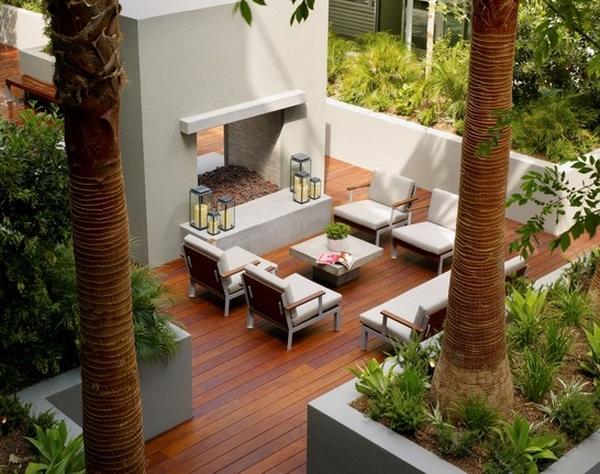 Desain Teras Kayu Modern Rumah Minimalis