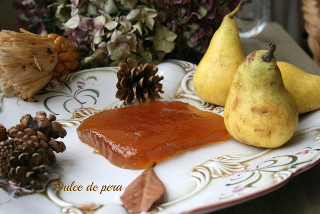 dulce de pera, mermelada de pera