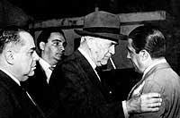 embaixador Walther Moreira Salles (Unibanco-CBMM) com  Oswaldo Aranha e Amaral Peixoto em 1959.