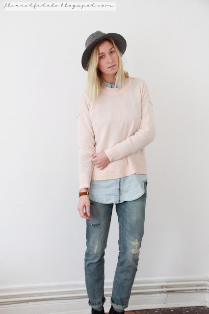Outfit of the Day: Look mit Boyfriend Jeans und Layerin