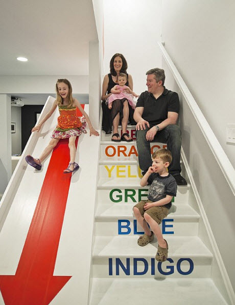 ESCALERAS CON TOBOGAN SLIDE STAIRS