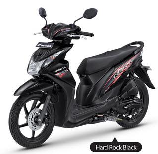 New Honda Beat Fi Black matic injeksi PGM-Fi spesifikasi mesin dan harga - www.teknologiz.com