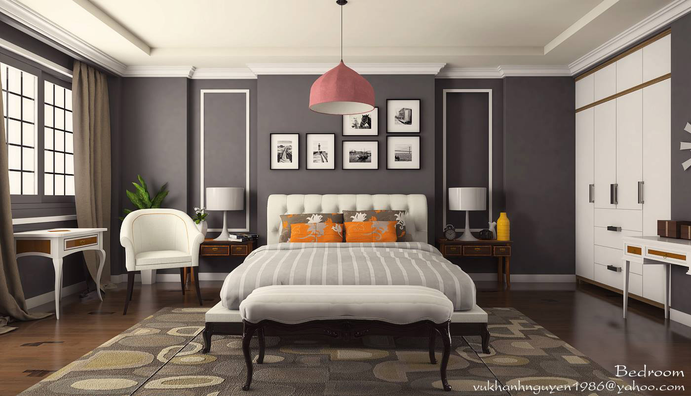 SKETCHUP TEXTURE FREE 3D MODEL BEDROOM 5 VRAY 16 setting