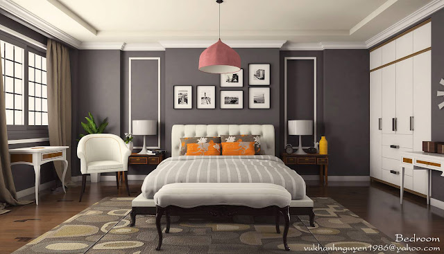 Sketchup_model_bedroom#5_vray 1.6 beta _render_test