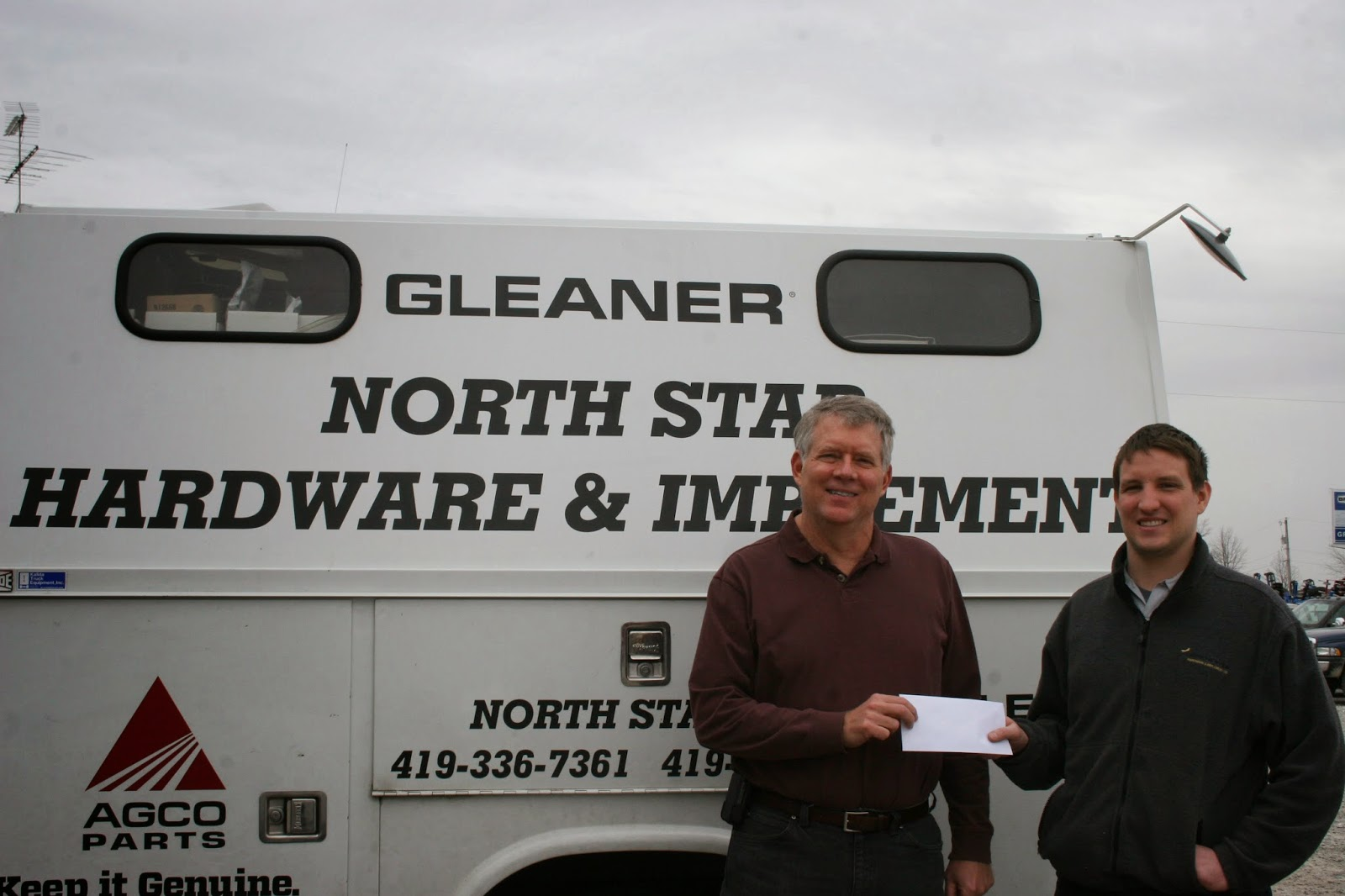 Ohio darke county north star - Steve Litchfield Darke Co Special Olympics Committee Is Showing Accepting A Donation From Ben Selhorst At North Star Hardware And Implement