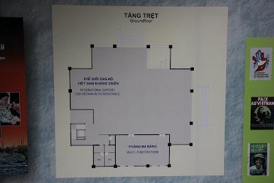 Plan des Erdgeschosses des Vietnam War Museum