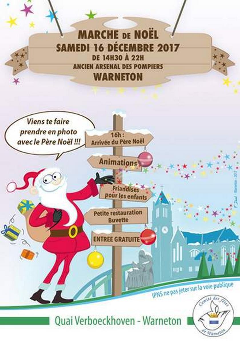 16 décembre marché de Noël Warneton