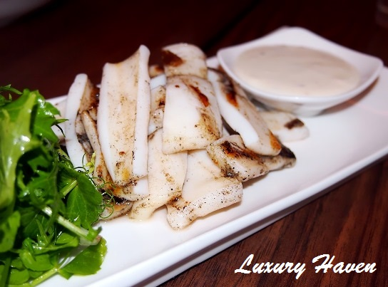 parsley thyme grilled calamari review