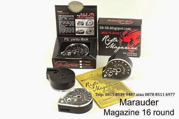 magazine marauder 16 peluru 10 mimis
