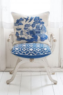 Willow Pattern Cushion - Jan Constantine