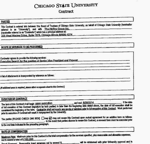 Of Course, At Chicago State, It Is Hardly Standard Procedure To Have  Expeditious Searches For Administrative Positions. An Examination Of The  Last Two ...