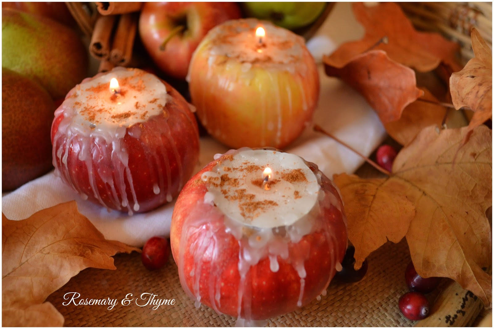 how to make apple tea lights