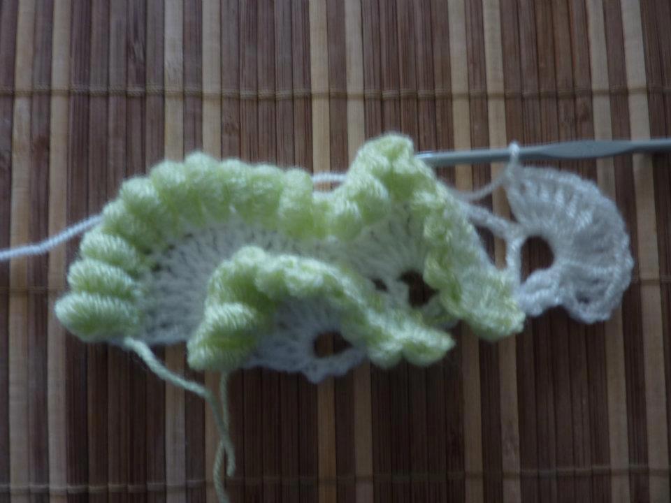 Вязание крючком столбик рококо 32