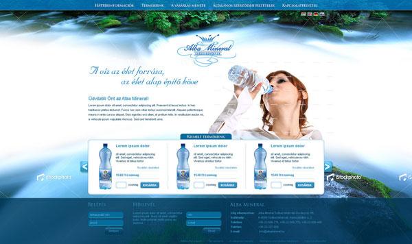 Albamineral-weboldal-terv