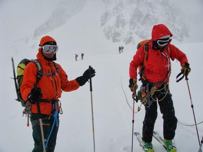 En el Glaciar du Geant.