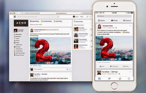 Facebook at Work já funciona em modo beta
