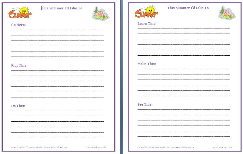 Brainstorming Ideas For Kids Summer Brainstorming Ideas