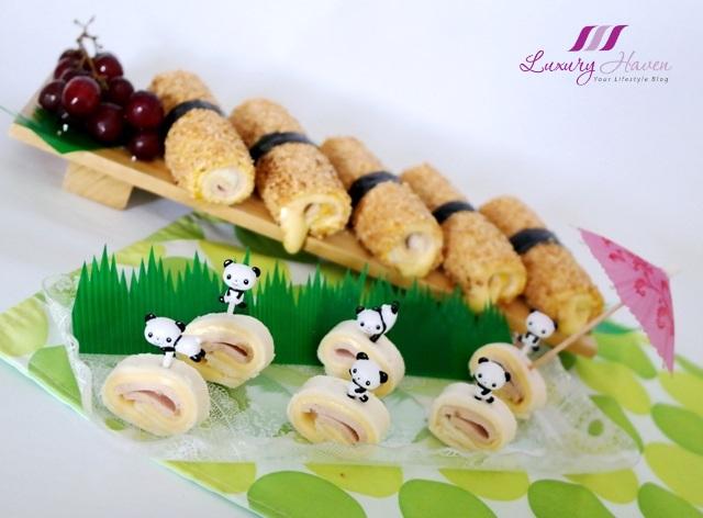 ham cheese sushi rolls cute pinwheels party recipe