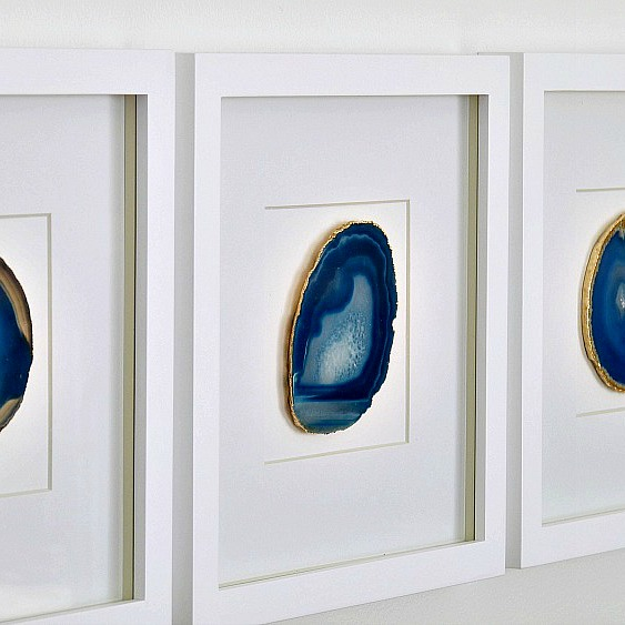 diy framed agate art