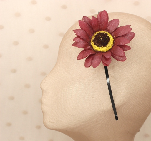 Colección Pedaleando - Diadema Granate flor