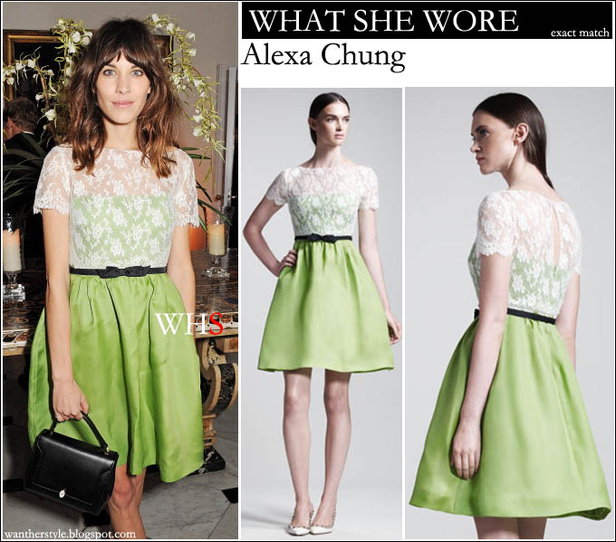 Lime green dress celebrity style