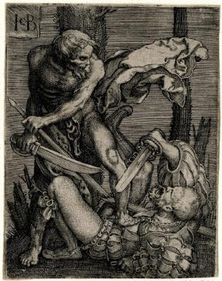 Death killing a soldier (Jacob Binck 1520-1561)