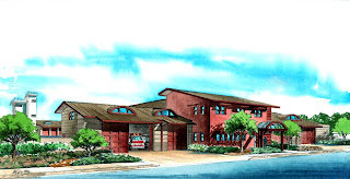 Architect's Rendering of New LAFD Fire Station 21