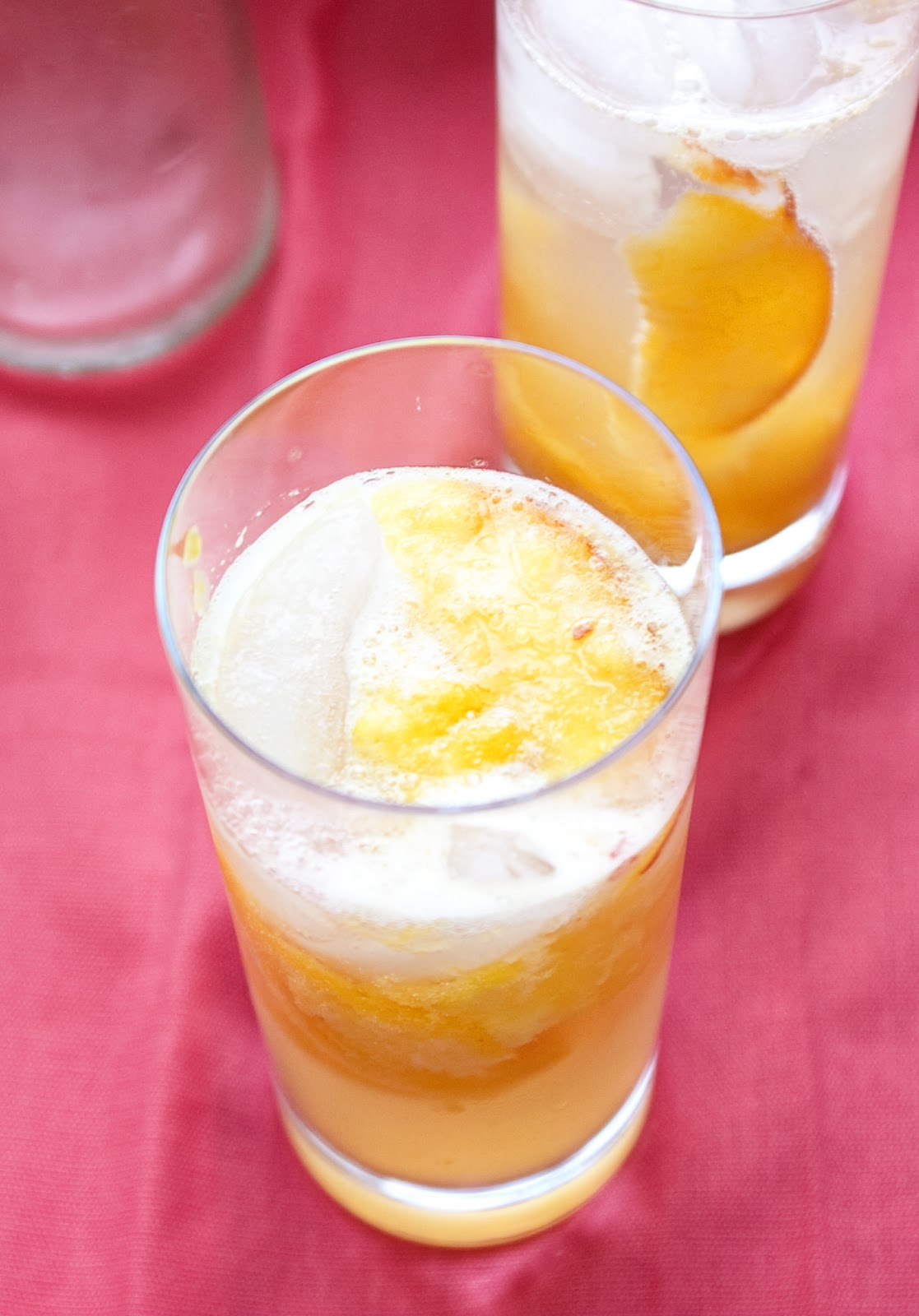 Casual Plates: Booze-Free Peach Collins