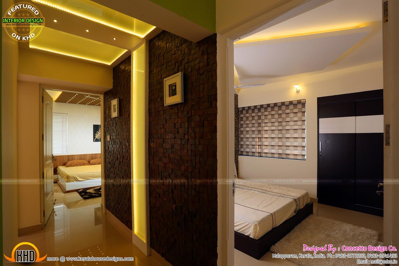 Front Elevation Kerala : Kerala flat interior design home and floor