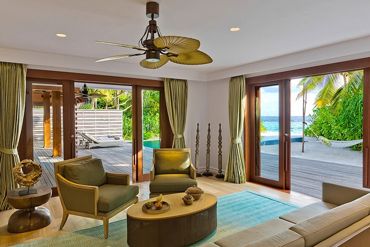 Luxury living room in Luxury Dusit Thani Resort in Maldives
